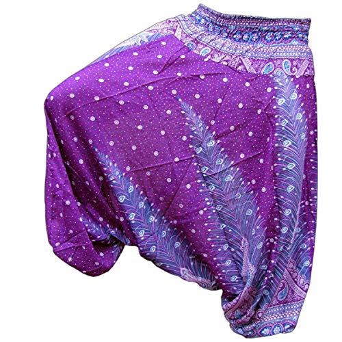 Einfache Für Eltern Kostüm - PANASIAM Aladin Pants, Print-Design-Style: Peacock v11