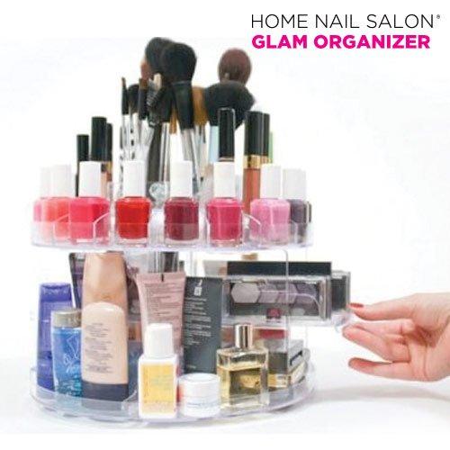 Mamzelle Ô Ti gern haben alle Ihre Kosmetik in Ordnung und immer zur Hand? Jetzt ist möglich dank All & # x20AC; Organizer für Makeup Glam Organizer der Vielzahl von Produkte Home Nail Saloon. Das.