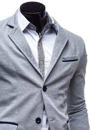 BOLF - Veston - Blazer - Boutons – COLLBERG 606 – Homme Gris