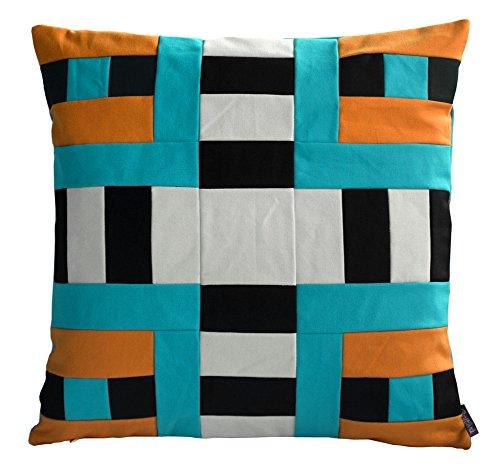 Baumwolle Streifen Werfen (Blancho haltbare Streifen dekorative Kissen werfen Kissen Baumwolle Kissen Multi Farbe)
