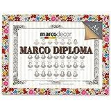 Marco para diploma A4 Flores Multicolor