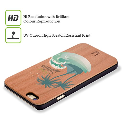 Head Case Designs Surf De Vague Surfeurs Étui Coque Rigide En Bois De Rose Pour Apple iPhone 5 / 5s / SE Surfeur Âme