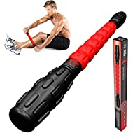 Physix Gear Sport Muscle Roller Stick - Deep Tissue Massage Roller for Trigger Points, Leg Cramps, Quads, Calf & Hamstring Tightness - Myofascial Release - Best Muscle Massager Stick for Athletes