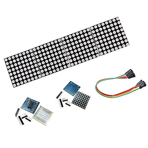 MagiDeal 4pcs MAX7219 LED Dot matrix 8x8 LED Display Steuermodul für Arduino DIY Raspberry pi kit (Kaskaden Kit)