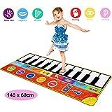 Piano speelmat mat kinderen piano toetsenbord muziek speelmat speelgoed super groot formaat (148 x 60cm) grappige dansmat voor baby's peuter jongens en meisjes cadeau