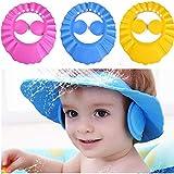 3pcs cappello da bambino bambino shampoo da bagno cuffia per doccia lavaggio scudo per capelli visiera diretta tappi per la cura del bambino dei bambini (3PCS wiht ears)