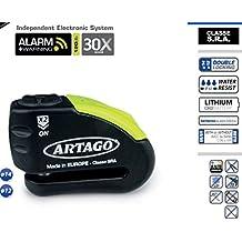 Artago - Candado Antirrobo para disco de Freno 30X con Alarma. Clase S.R.A, Pasador de 14 mm.