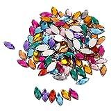100pcs Multicolores Adornos Accesorios de Cristal Artificial para Decoración de Artesanía Costura