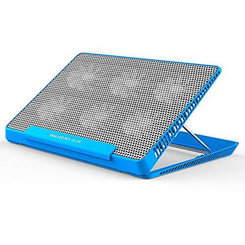 HSKB Gaming Laptop Cooling Pad, Laptop-PC Kühler Tablet Ständer Universal Kühlpads Externe Lüfter Kühlpads Halter Dock Tragbarer für Tablets, E-Reader und Handys (Blau) (Tablet-cooling Pad)