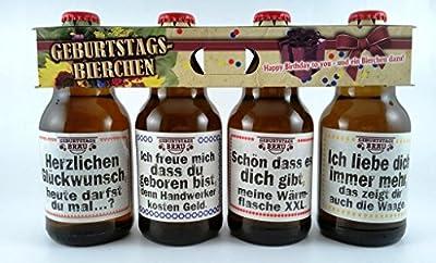 Geburtstags Bier im Happy Birthday 4er Träger als Geschenk