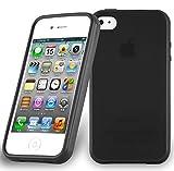 Apple iPhone 4 / iPhone 4S Silikonhülle in SCHWARZ von