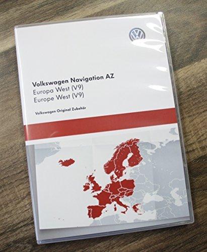 Volkswagen 3AA051866AS Original VW Navi Navigationsdaten V9 Europa West - Update für RNS 315