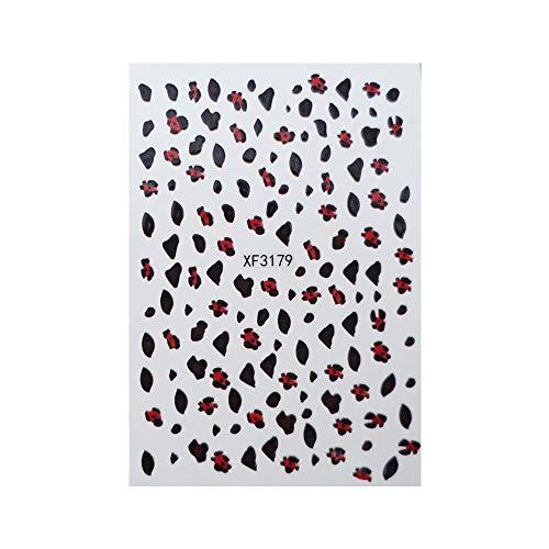 Nagel Liefert,Förderung,PorLous2019 Frau Mode New Neue Leopard Print 3D Nail Art Sticker Maniküre Adhesive Transfer Aufkleber Schnell Trocknend Dauerhaft.2