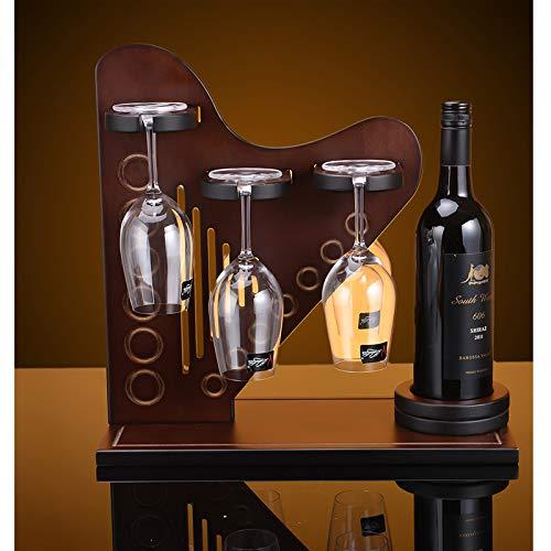 FECTY-Weinregal Harfe Holz Weinregal Weinregal Kreative Traube Holz Weinregal Weinglas Rack Umgedreht Weinschrank Dekoration Indoor-Handwerk