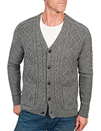 Wool Overs Cardigan irlandais à col V homme