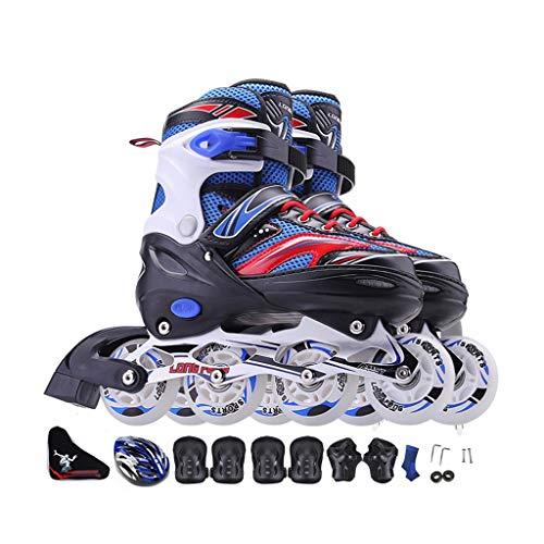 JIANXIN Inline-Skates, Erwachsenen-Rollschuhe Für Kinder, Geeignet Für Männer Und Frauen Und Anfänger Im Eiskunstlauf, Mit Flash-Rad (Color : B, Size : EU 30 - EU 34)