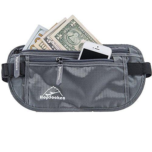 Neue Produkt Travel: Taille Geld Gürtel Pack für laufen und radfahren, RFID, bequem, strapazierfähig und leicht versteckte Reise Reisepass Portemonnaie. (Versteckte Pic)