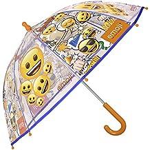 Paraguas Emoji de Niño y Niña con Paraguas Emoji de Niño y Niña - Paraguas Transparente