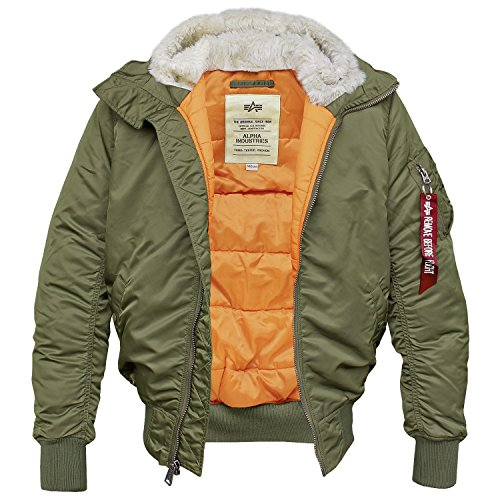Alpha Industries MA-1 Hooded Fliegerjacke Blouson Dark-Green