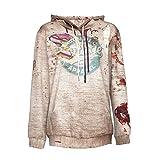 Halloween Sweatshirts Damen Brief Print Langarm Party Pullover Bluse mit Kapuze Streetwear SANFASHION