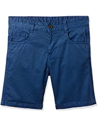 Cherokee Boys' Regular Fit Cotton Shorts (272202757 Blue 05Y OS-13.5)