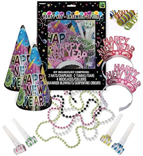 13-Teile-Silvester-Party-Set-fr-4-Personen
