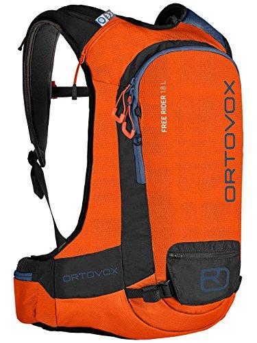 Ortovox Herren Free Rider 18 L Rucksack, Crazy Orange, 55 x 30 x 12 cm, 18 Liter