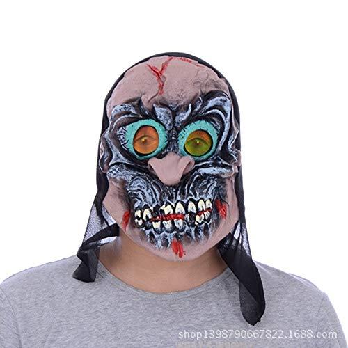 SCLMJ Halloween Party Kleid Maske Horror Teufel Hexe Bild Maskerade (Hexe Maskerade Maske)