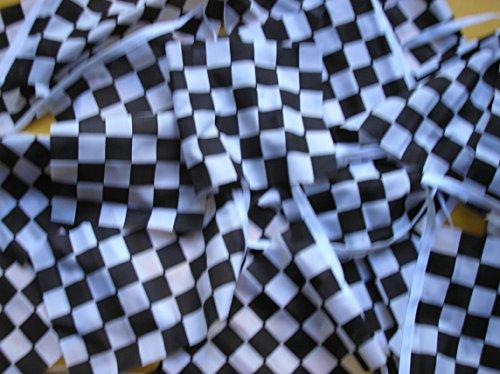 BUNTING FLAGS 10Schwarz/Weiß-Flagge Bunting 20m 6Meter, 20Flaggen versiegelte Material: Polyester mit Party-Dekoration zum