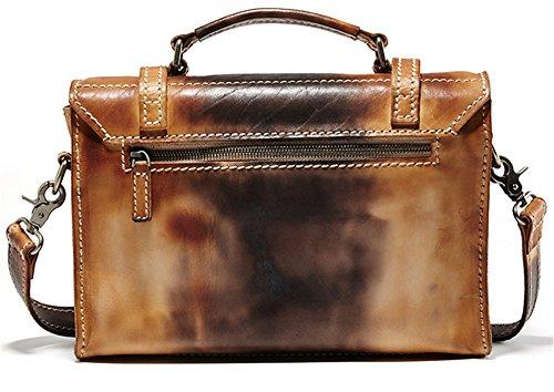 Xinmaoyuan uomini borsette retrò Business uomini valigetta Messenger Borsetta Borsetta borsa per computer originale Borsa in cuoio, marrone Brown