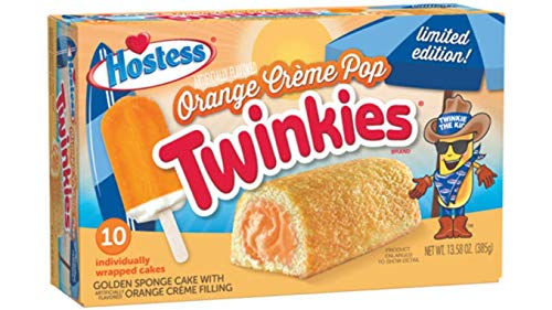 Hostess Orange Creme Pop Twinkies Limited Edition - 10 Cakes - 385g...