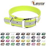 BioThane® Halsband mit Dornschnalle / 25 mm breit / 4 Längen [44-52 cm] / 49 Farben [Neon-Gelb-Reflex]