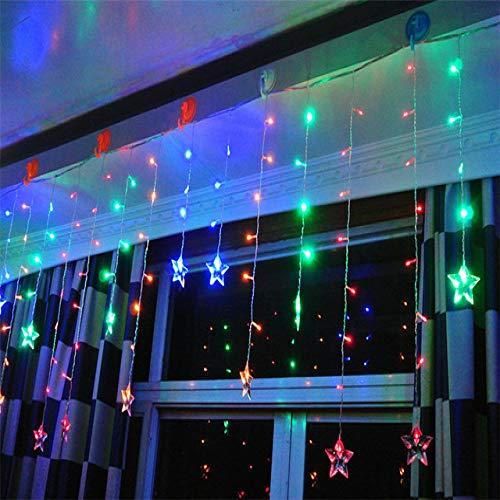WSYYWD Weihnachtselfen-Lichterketten-Schnur der Stern-Gartenfest-Luss-Dekorations-im Freienlichter führten die bunten Schnur-Lichter 3x0.4-0.6m