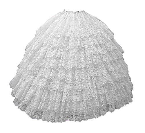 Bridal_Mall Damen Sehr Puffy Vintage Spitze Unterrock Reifrock für Hochzeitskleider Ballkleider Brautkleider (Elfenbein)