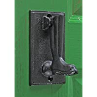 Vintage Style Wellington Boot Door Knocker Made from Cast Iron - Black Finish