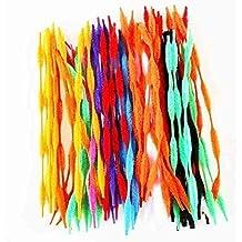 Limpiapipas Colores Surtidos 100pieza grande Paquete purpurina Tubo Cleaners chenilla Stem, Art 2
