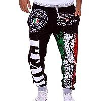 07ea02140d3d4 Pantalones Largos para Hombre Pantalones Largos para Hombre Impresión  Digital Sueltos Casuales con cordón Fashion Pantalones