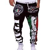 Elecenty Moda pantaloni da uomo nuovi Pantaloni sportivi larghi stampa elastica...