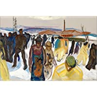 POSTERLOUNGE Forex 120 x 80 cm: Workers Returning Home de Edvard Munch