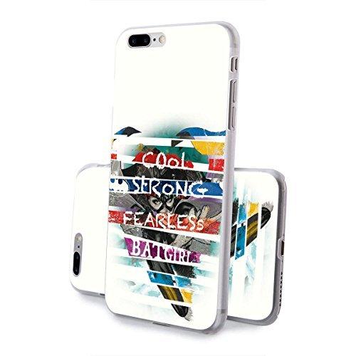 finoo | iPhone 8 Handy-Tasche Schutzhülle | ultra leichte transparente Handyhülle in harter Ausführung | kratzfeste stylische Hard Schale mit Motiv Cover Case |Logo become bat Batgirl strong cool