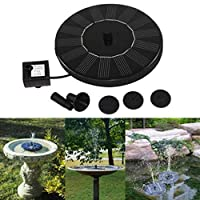 HARRYSTORE Solar Water Pump, 1.4W Circle Garden Solar Fountain Solar Powered Water Pump for Birdbaths or Ponds (Black) 19