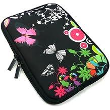 Emartbuy® Ampe 830 Windows Tablet PC 8.1 Pulgada Midnight Butterfly Jungle Funda Impermeable con Cremallera de Neopreno Suave Case Cover Sleeve ( 8 Pulgada Tablet )
