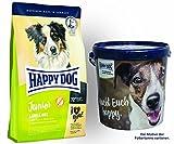 Happy Dog Young Junior Lamb & Rice 1 x 10 kg + Happy Dog Futtertonne 20 Liter