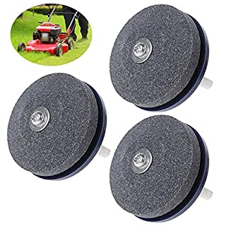 MOGOI 50MM Lawn Rotary Mower Sharpener,Lawn Mower Power Drill Bit Sharpeners Lawn Mower Sharpener Lawnmower Sharpener for Power Hand Drill Garden Tool, 1/2/3/4/6 Packs