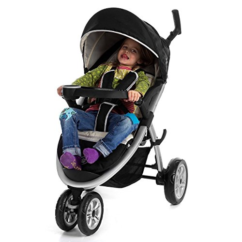 "Froggy® CITYBUG ""Safari"" Kinderwagen Buggy Schwarz / Beige mit Multipositions-Mechanik"
