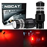 ngcat 1200LM rot 7443LED Leuchtmittel extrem hellen 48-smd 4014LED Chipsätze T207444NA 74407440verchromt NA Halogenlampe 992LED Leuchtmittel, mit Projektor für Turn Signal Licht Schwanz Backup Reverse Beleuchtung (2Stück)