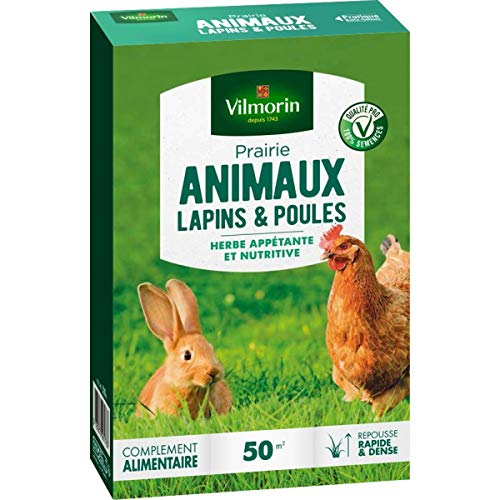 Vilmorin Gazon Prairie lapins et poules 500gr