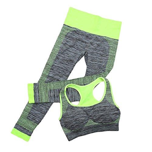 Fitness Workout Kleidung Frauen Gym Sport Laufende Mädchen Schlank Leggings + Tops Frauen Yoga Sets BH + Hosen Weiblich Sport Anzug