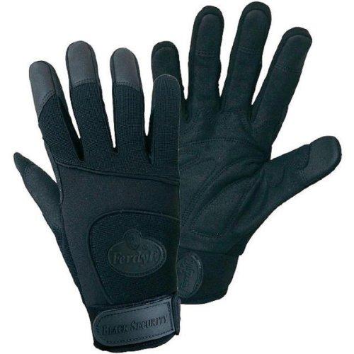 1 paire FerdyF. Mécanique Gant de sécurité noir avec Spandex Noir Blacks