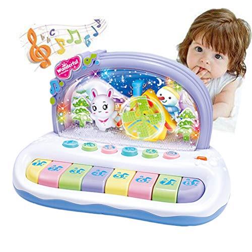 Baby Kinder Klavier Musikinstrument Spielzeug Kleinkind Musik Lernspielzeug mit Ton und Licht Musik Frühe Lernspielzeug